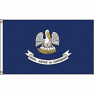 LOUISIANA FLAG,4X6 FT,NYLON