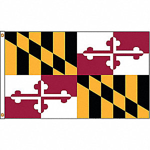 MARYLAND FLAG,4X6 FT,NYLON