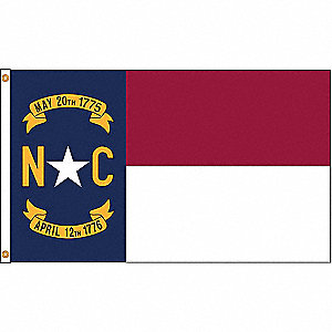 NORTH CAROLINA FLAG,5X8 FT,NYLON