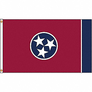 TENNESSEE FLAG,5X8 FT,NYLON