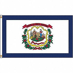 WEST VIRGINIA FLAG,4X6 FT,NYLON
