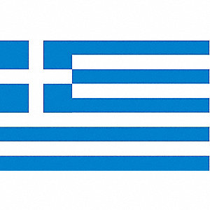Greece Country Flag, 3 ft.H x 5 ft.W, Indoor, Outdoor