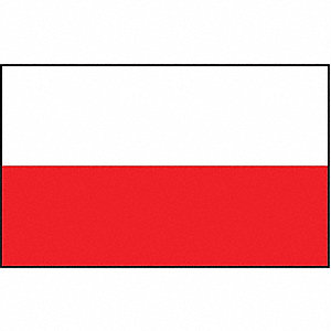 Poland Flag,3x5 Ft,Nylon