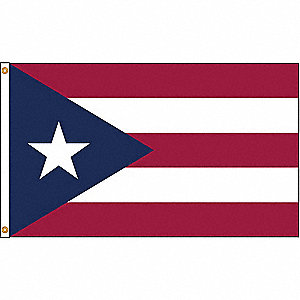 PUERTO RICO FLAG,3X5 FT,NYLON