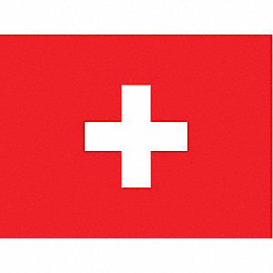 Switzerland Country Flag, 3 ft.H x 5 ft.W, Indoor, Outdoor