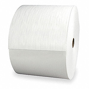 White Hydroentangled Shop Towel Roll, Number of Sheets 800