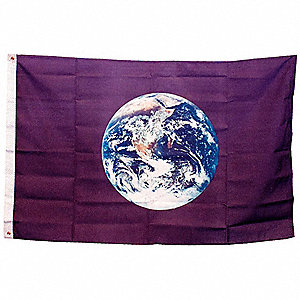 Earth Earth Flag, 3 ft.H x 5 ft.W, Indoor