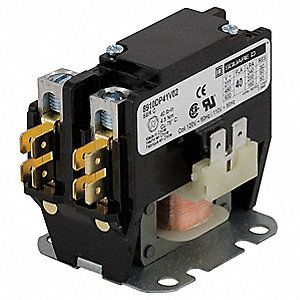 "3.29""H x 2.16''W 24VAC Definite Purpose Contactor&#x3b; Full Load Amps-Inductive: 40, Poles: 1"