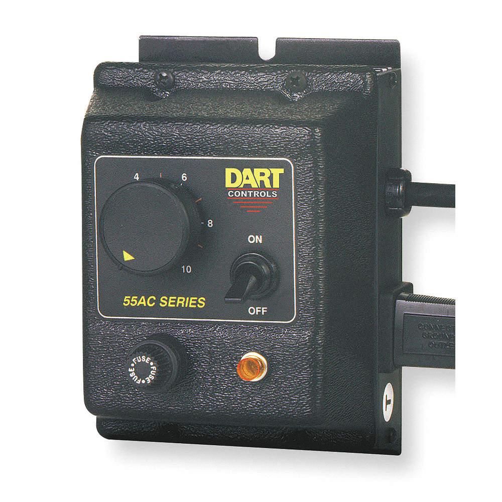 DART CONTROLS Adjustable Speed AC Motor Control, 15.0 Max. Amps, 120 ...