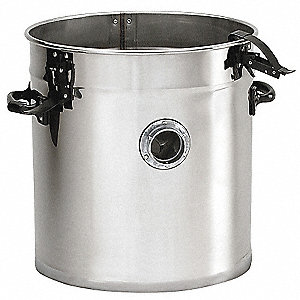 Canister with Clamp Lids