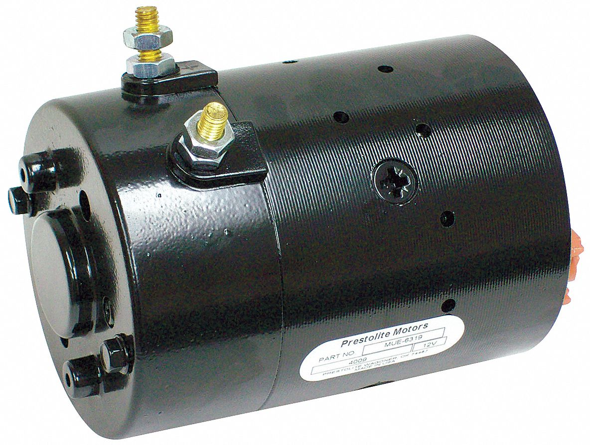 DC Wound Field Motor,  1 3/5 HP,  Motor Application Hydraulic Snow Plow Lifts,  Nameplate RPM 2,800