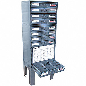 Viton O-Ring Asst,Steel Cabinet,1324 Pc