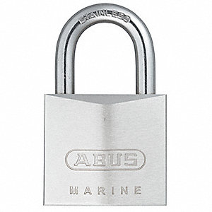 "Alike-Keyed Padlock, Open Shackle Type, 7/8"" Shackle Height, Silver"