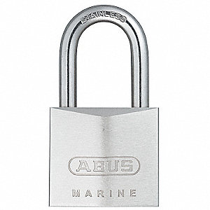 "Alike-Keyed Padlock, Open Shackle Type, 1-1/2"" Shackle Height, Silver"