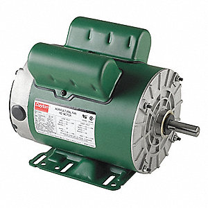 1 HP Poultry Fan Motor,Capacitor-Start/Run,1725 Nameplate RPM,115/208-230 Voltage,Frame 56H