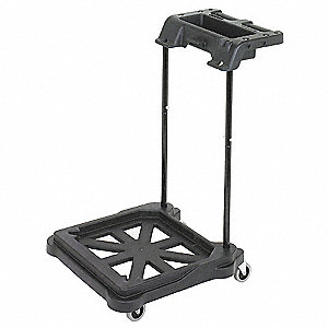 Black Polyethylene Mopping Trolley, 1  EA