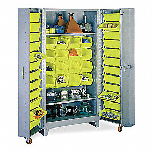 "Bin Cabinet, 76"" Overall Height, 39"" Overall Width, Total Number of Bins 40"