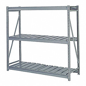 "Starter Bulk Storage Rack with Ribbed Steel Decking and 3 Shelves, 60""W x 36""D x 72""H"