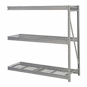 "Add-On Bulk Storage Rack with Steel Wire Decking and 3 Shelves, 96""W x 48""D x 72""H"