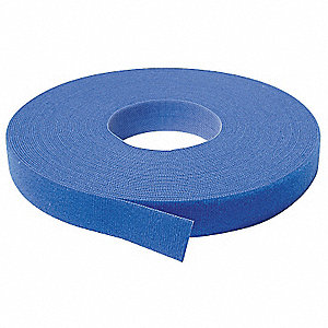 "Hook-and-Loop-Type Back-to-Back Strap with No Adhesive, Blue, 3/4"" x 37 ft. 6"", 1EA"