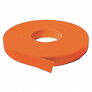 Self Gripping Strap,W3/4 Inx75 ft,Orange