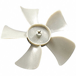 "7"" CW Facing Discharge Propeller, White&#x3b; Number of Blades: 5"