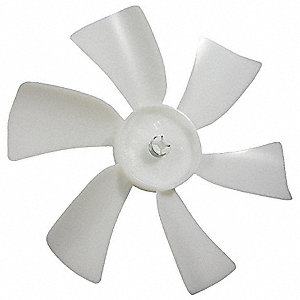 "6"" CW Facing Discharge Propeller, White&#x3b; Number of Blades: 6"
