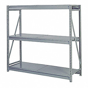 "Starter Bulk Storage Rack with Steel Decking and 3 Shelves, 72""W x 48""D x 84""H"
