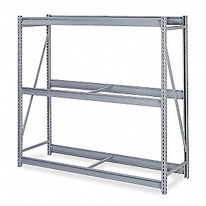 "Add-On Bulk Storage Rack with Steel Wire Decking and 3 Shelves, 60""W x 24""D x 72""H"