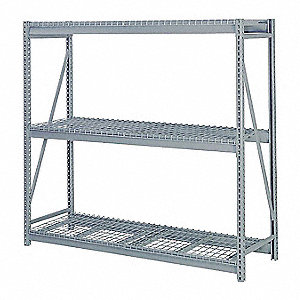 "Starter Bulk Storage Rack with Steel Wire Decking and 3 Shelves, 72""W x 24""D x 84""H"