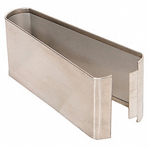 "Shoe SS Split 07W x 3H for Steel Partition, 3""H x 7""W x 1-1/4"" Thickness"