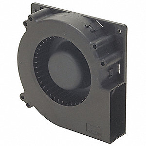 "Square Axial Blower, 4-3/4"" Width, 4-3/4"" Height, 48VDC Voltage"