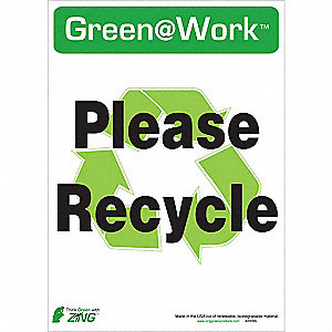 Recycle Label,14x10In,PK5