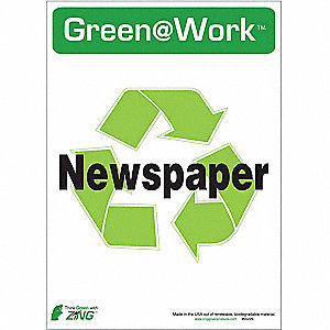 RECYCLE SIGN NEWSPAPER 5/PK
