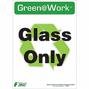 RECYCLE SIGN GLASS ONLY 5/PK