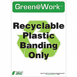 RECYCLE SIGN PLASTIC BAND 5/PK