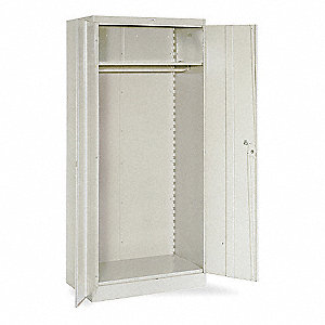 "Industrial Storage Cabinet, Putty, 78"" H X 36"" W X 18"" D, Assembled"