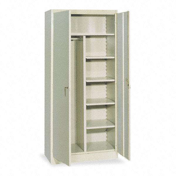 lyon storage cabinet putty 78 overall height unassembled 5jt43 pp1099 grainger. Black Bedroom Furniture Sets. Home Design Ideas