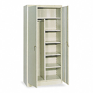 Storage Cabinet,Gray,Assembled,36 In. W