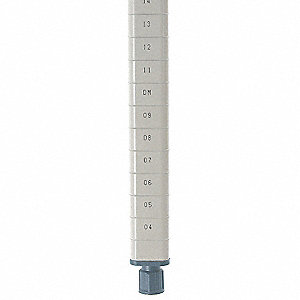 SHELF POST,74 H X 1 IN. W,PK 4