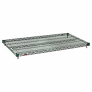 "60""W x 18""D Wire Shelf, Epoxy Finish, 600 lb. Shelf Capacity, Green"