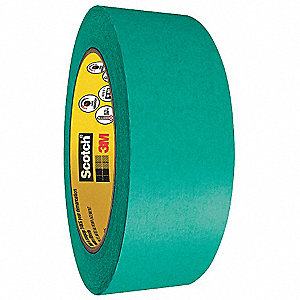 "Flatback Masking Tape, 60 yd. x 2"", Sea Green, 4 mil"
