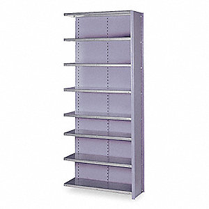 "36"" x 24"" x 84"" Add-On Steel Shelving Unit, Dove Gray"