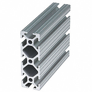 Extrusion, T-Slotted, 10S, 72 In L, 1 In W