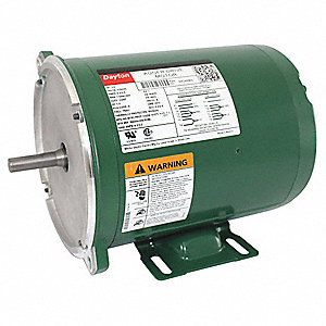 1/3 HP Auger Drive Motor,Split-Phase,1725 Nameplate RPM,115/230 Voltage,Frame 56YZ