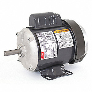 1/4 HP General Purpose Motor,Capacitor-Start,1725 Nameplate RPM,Voltage 115/208-230,Frame 56