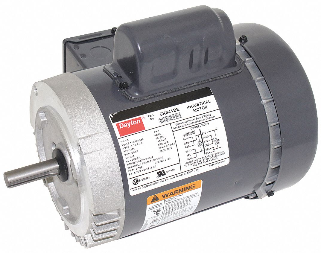 1 3 Commercial And Industrial Motors Grainger Industrial Supply