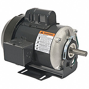 1/3 HP General Purpose Motor,Capacitor-Start,1725 Nameplate RPM,Voltage 115/230,Frame 56