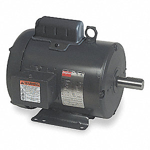 2 HP General Purpose Motor,Capacitor-Start,1740 Nameplate RPM,Voltage 115/230,Frame 213