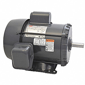 1-1/2 HP General Purpose Motor,Capacitor-Start,1750 Nameplate RPM,Voltage 115/230,Frame 184